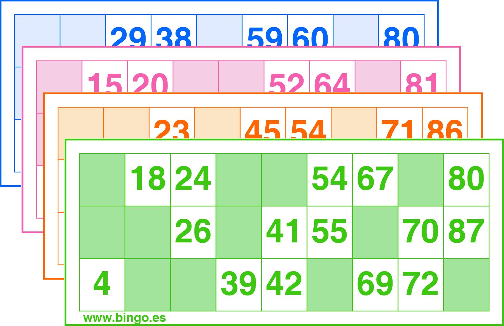 Imprimir Cartones De Bingo Gratis En Pdf