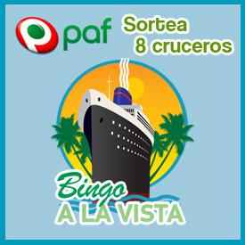Bingo Paf sortea 8 cruceros por el Mediterraneo